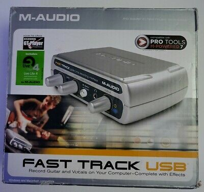 $58 • Buy M-Audio Fast Track USB Digital Audio Interface: Record Guitar And Vocals