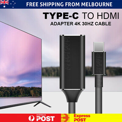 AU9.98 • Buy New Type C USB-C To HDMI Adapter Cable Converter For MacBook Samsung ChromeBook