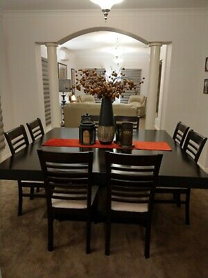 AU695 • Buy Dining Table And 8 Chairs, Modern Design Lovely Condition Size 1.8 X 1.8mtr.