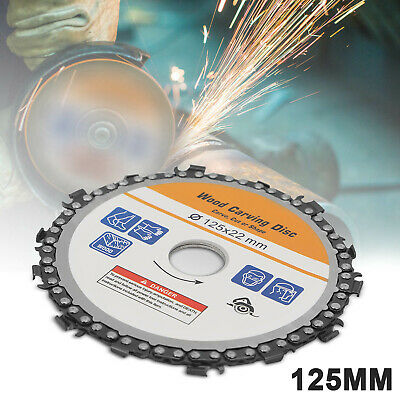AU10.99 • Buy 5 Inch 14 Tooth Grinder Chainsaw Disc For Cutting Wood Saw Blade Chain Circular