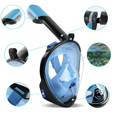 AU27.99 • Buy Full Face Diving 180 View Snorkel Snorkeling Mask Swimming Goggles For GoPro AU
