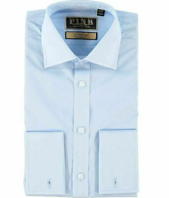 £70 • Buy £225 Thomas Pink Imperial 200 Classic Fit Light Blue Double Cuff Shirt New UK
