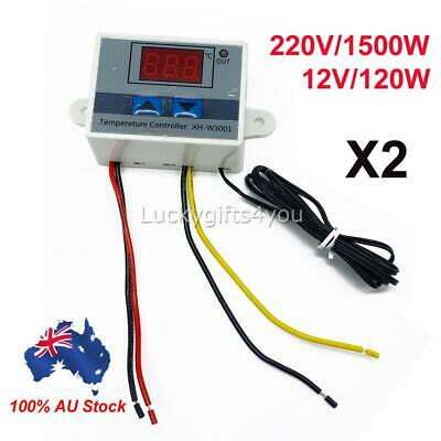 AU15.95 • Buy 2pack Digital Thermostat C/F Temperature Controller For Incubator Relay LED AUS