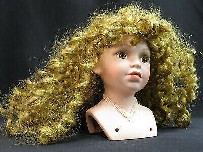 $ CDN37.65 • Buy Vintage Bisque Porcelain Doll Head & Shoulders Strawberry Blond 5 1/4  Tall