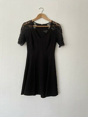 AU35 • Buy Forever New Size 6 Black Mini Skater Dress