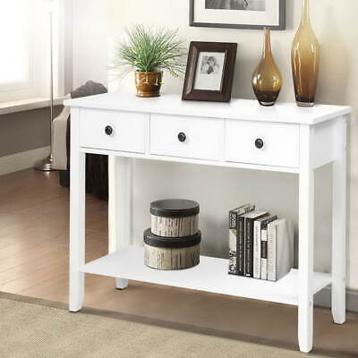 AU99.90 • Buy Wooden Console Table Hall Way Side Entry Dressing Drawers Display Desk Furniture