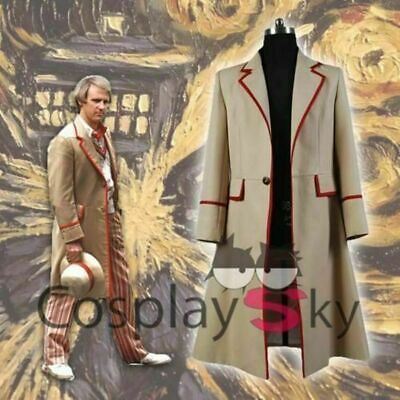 New! 5th Doctor Who Peter Davison JACKET Coat Cosplay Costume • 24.53£
