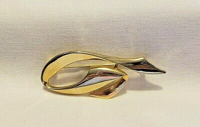 $7.95 • Buy Signed M.JENT Vintage Polished Gold Tone Abstract Retro Brooch Pin