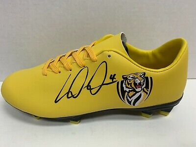 AU395 • Buy AFL RICHMOND TIGERS – Dustin Martin HAND SIGNED BOOT Premiers Riewoldt Cotchin