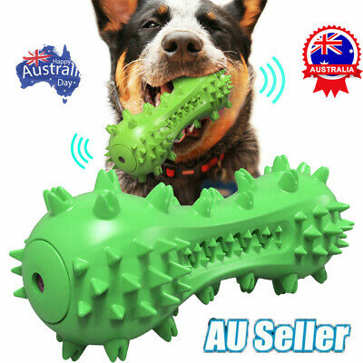 AU15.68 • Buy Pet Dog Squeaky Chew Toys Aggressive Chewer Indestructible Tough Rubber Bone DM