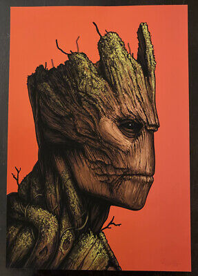 £60.17 • Buy Guardians Of The Galaxy Movie Poster Groot Mondo Art Mike Mitchell Marvel SDCC