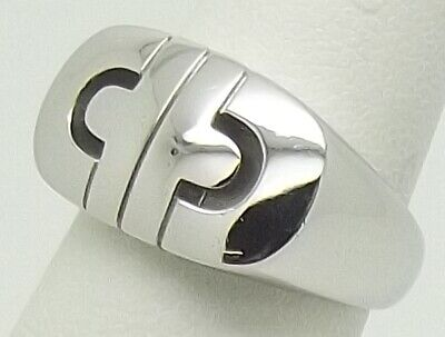 AU1320 • Buy Solid 18ct White Gold Bulgari Bvlgari Parentesi Ring - Size L1/2