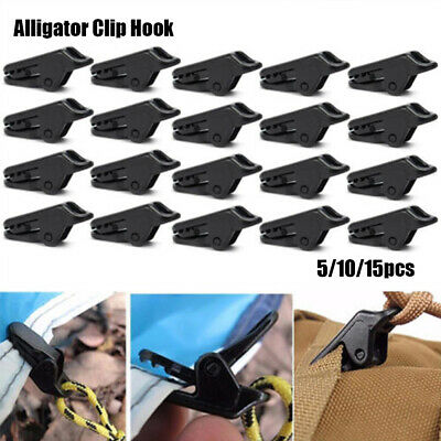 5/10/15PC Tent Awning Canopy Clamp Hooks Camping Tent Alligator Clip Gripper Kit • 2.80£