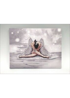 £18.45 • Buy Framed Glass Picture Plaque Of Angel/Angel Wings, With Glitter Decoration