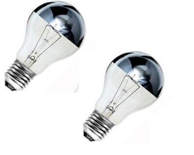 £7.45 • Buy 2 X Bell Crown Silver Top Reflector Dimmable GLS Light Bulb 60w ES