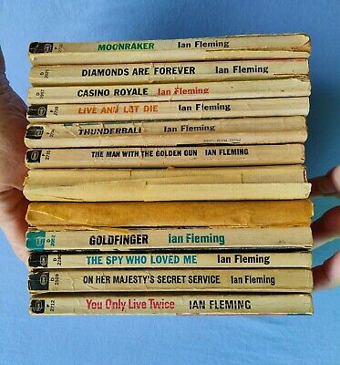 $30 • Buy 12 Vintage James Bond 007 Paperback Novels By Ian Fleming 11 Signet & 1 Bantam