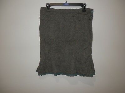 Lux Wool Godet Skirt With Lace Trim Size 31 • 6.80£