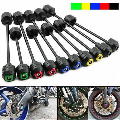 $44.60 • Buy For SUZUKI GSX-R 600 750 1000 Front Rear Wheel Axle Slider Fork Crash Protector