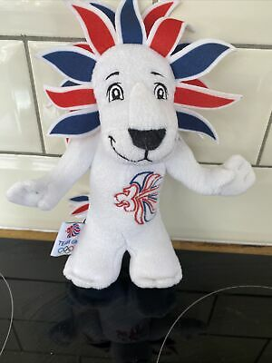 London 2012 Lion Plush Olympic Games Team GB Mascot Soft Toy 13  Collectible • 5£