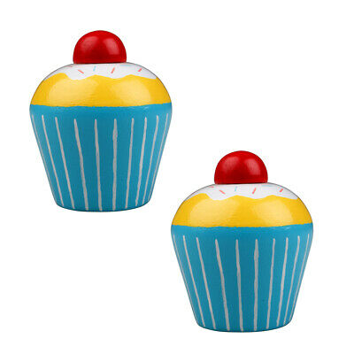 £3.98 • Buy Bigjigs Toys Wooden Play Food Cupcake (Pack Of 2) Pretend Roleplay Kitchen