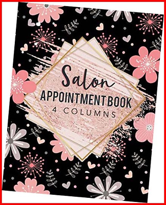 £6.37 • Buy Salon Appointment Book 4 Columns: Agenda Appointment Book For Salons, Spa, Hair