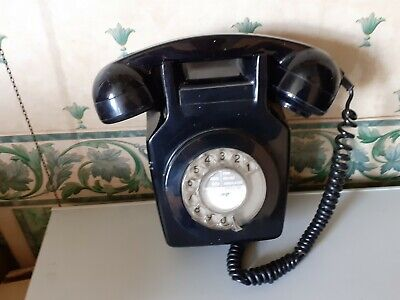 GPO Wall  Rotary Black Retro Telephone. Unconverted. Untested.  • 10£