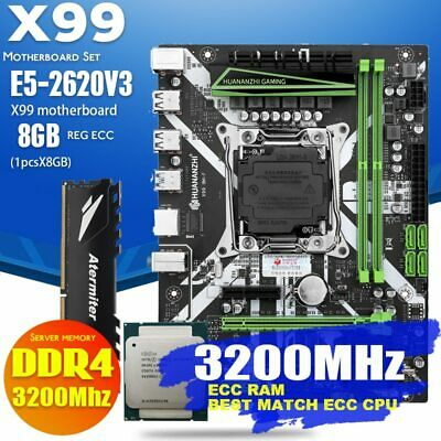 AU221.52 • Buy X 99 Motherboard With XEON E5 2620 V3 2*8G DDR4 3200MHz REGECC Memory Combo Kit