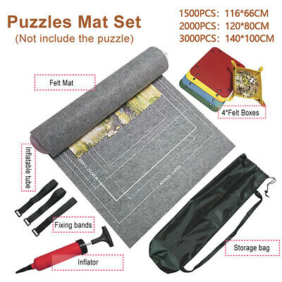 £5.79 • Buy Puzzle Roll Up Mat Jigsaw Storage Felt Mat, Jigroll Up To 1500/3000 Pieces New