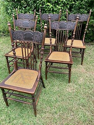 AU1400 • Buy Antique Spindle Chairs - Set Of Six - Circa 1900