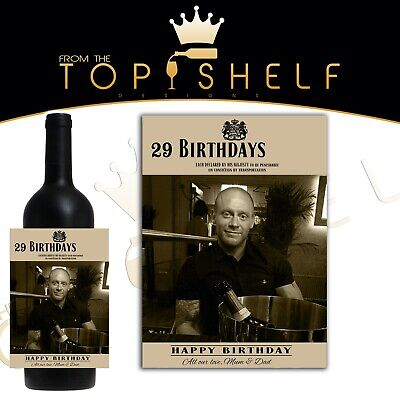 £3.50 • Buy Personalised Replica 19 Crimes Wine Bottle Label Your Photo, Name And Greetings