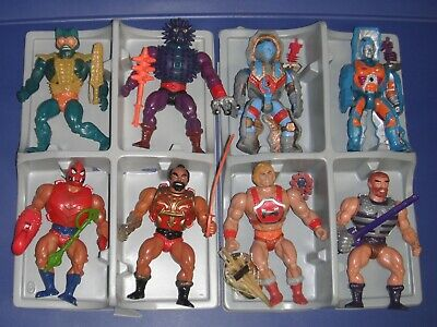 $565 • Buy 1980s Master Of The Universe Vintage Lot 8 Figures With/MOTU Case/With/1 Comic