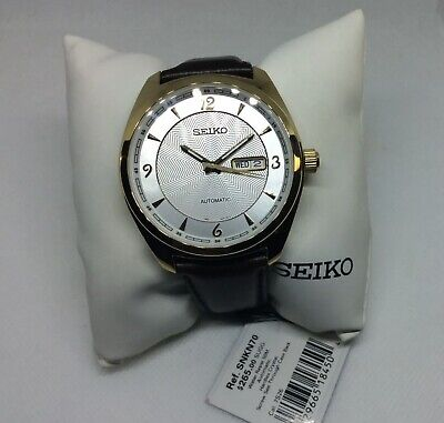 $ CDN125.25 • Buy Seiko SNKN70 Recraft Automatic Mens Watch Leather Band 100M WR Original With Box