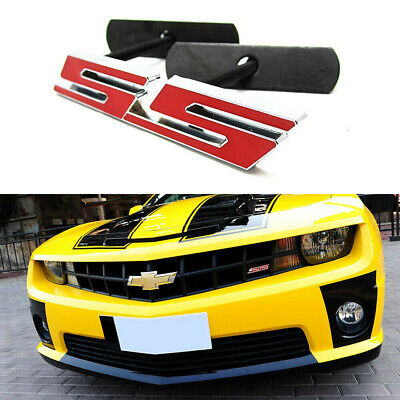 $9.99 • Buy 1x 3D Red Chrome SS Emblem Front Grill Badge For Chevrolet Camaro