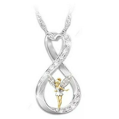 £2.99 • Buy Lovely Silver Tone Crystal Tinkerbell Fairy Necklace. In Organza Gift Bag..