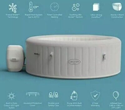 2021 Lay Z Spa PARIS 4-6 Person Hot Tub Freeze Shield * Confirmed Order * • 799.99£