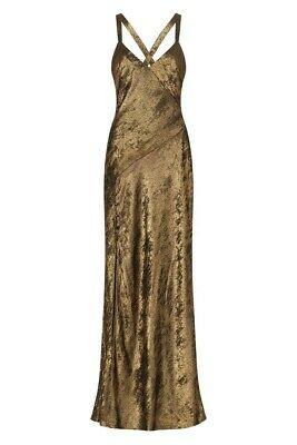 AU169 • Buy Sass & Bide HIGHER LOVE Metallic Maxi Dress RRP $390 Free Post Size 38 8