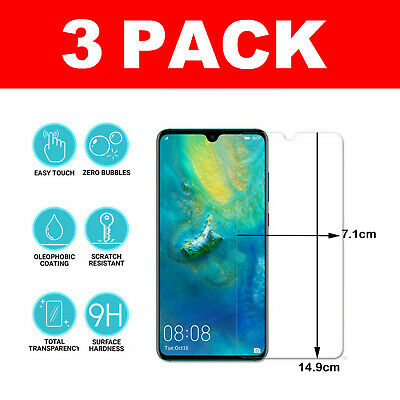 Tempered Glass Screen Protector For Huawei P30 Mate 30 Honor 10 9 Lite • 2.89£