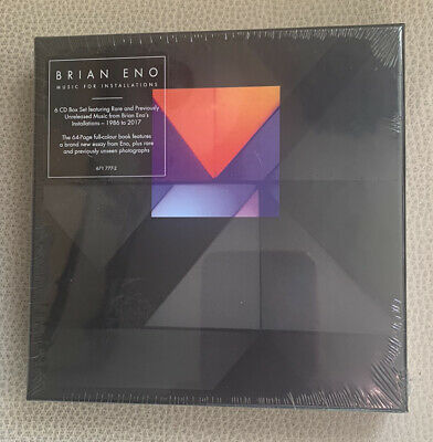 BRIAN ENO Music For Installations 6 X CD Box Set New & Sealed • 44.99£