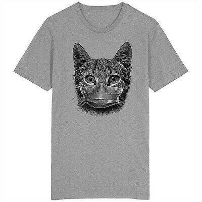 £9.99 • Buy Cat Face Mask T Shirt Kitten Kitty Lockdown Social Distancing Animal Lovers