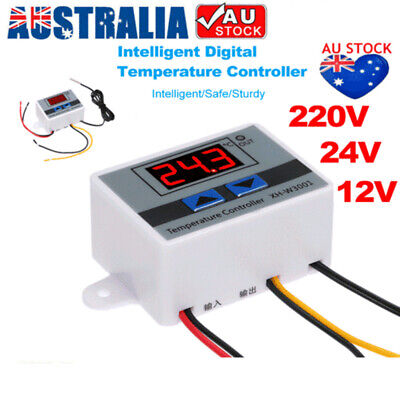 AU13.69 • Buy Digital LED Temperature Controller Thermostat Control Switch W/ Probe Waterproof