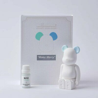 $200 • Buy Bearbrick Aroma Ornament No.0 Color-W-Double BLUE/GREEN By Medicom