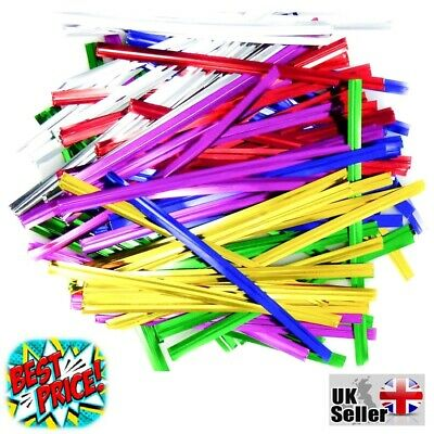 £2.79 • Buy Twist Ties 4 Cone Cellophane Plastic Bags Wire Plastic Cable Metallic Gift Cakes