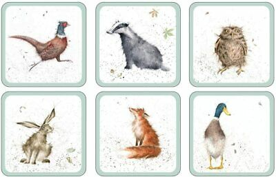 £3.49 • Buy Wrendale Designs Single Country Coasters Duck Badger Fox Hare 10x10cm MixnMatch