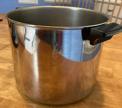 $ CDN20.31 • Buy Revere Ware ALL Stainless Steel 8 Qt Quart Stock Pot NO Lid Clinton ILL. USA 85