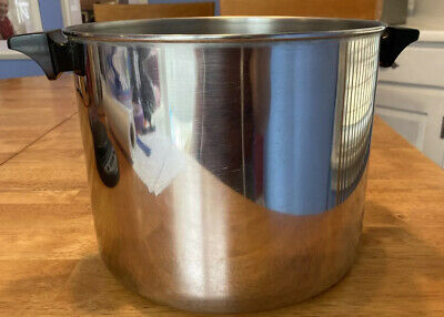 $ CDN26.25 • Buy Revere Ware 8 Qt Stock Pot Disc Bottom Stainless Clinton Ill USA 98d No Lid