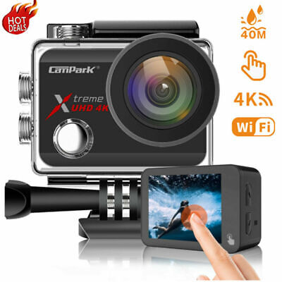 $ CDN89.44 • Buy Campark Action Camera Wifi 20MP Sports Touch 40M Waterproof EIS Video Cam Go Pro