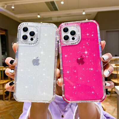 AU10.96 • Buy For IPhone 12 11 Pro Max XS XR 7 8+ Case Glitter Shockproof Hybrid Bumper Cover