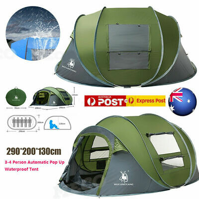 AU139 • Buy 3~4 Person Man Family Tent Instant Pop Up Tent Breathable Outdoor Camping Hiking