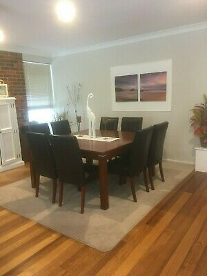 AU450 • Buy Dining Setting 8 /12 Seat With 8 Leather Chairs