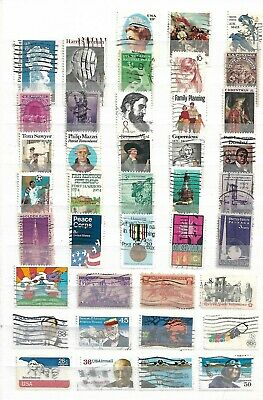 AU1.56 • Buy Usa ( United States Of America  )   -  Lot Of 136 Stamps  - 3 Images
